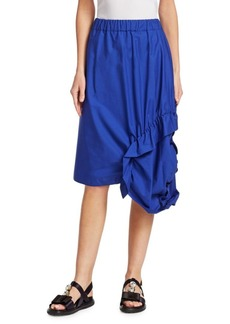 Marni Side Ruche Poplin Skirt