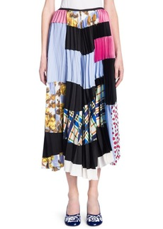 Silk Patchwork Skirt