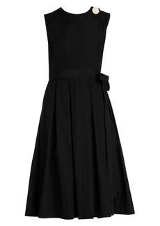 Marni Sleeveless Poplin Pleated Dress