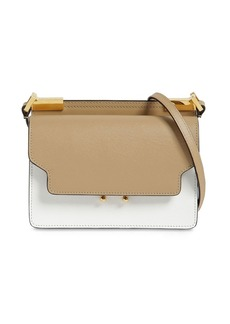 Marni Slim Trunk Saffiano Leather Shoulder Bag