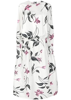 Marni smocked waist floral dress