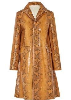 Marni Snake-effect Leather Coat