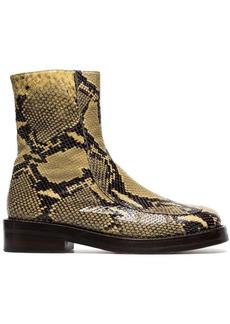 Marni snakeskin embossed boots