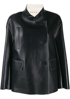 Marni stand collar boxy-fit jacket