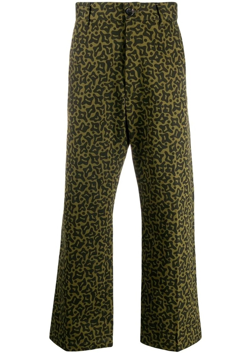 Marni Camo Cells print trousers