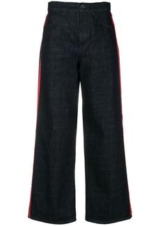 Marni stripe detail wide leg jeans