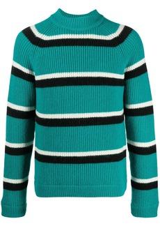 Marni stripe-pattern ribbed-knit jumper