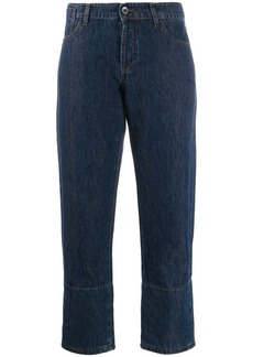 Marni striped cuff jeans