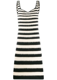 Marni striped fitted midi dress