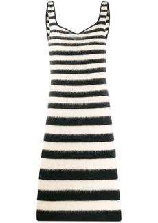 Marni striped fitted midi dress