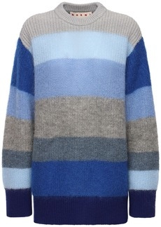 Marni Striped Knit Mohair Blend Sweater
