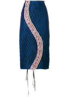 Marni striped panel pencil skirt