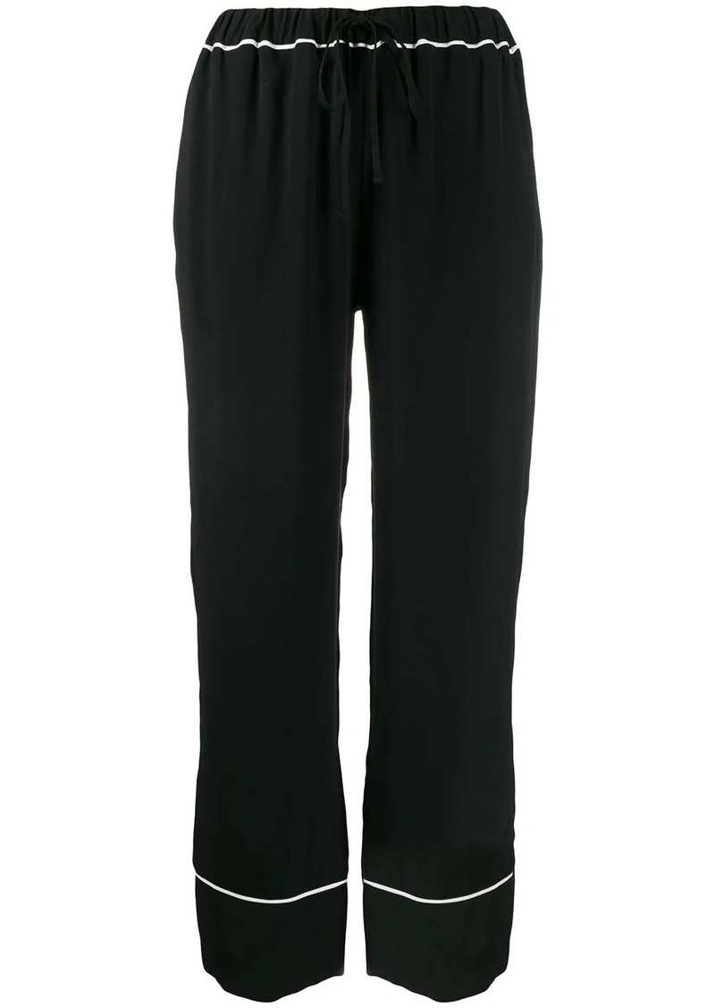Marni striped trim straight trousers