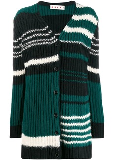 Marni stripped knitted cardigan