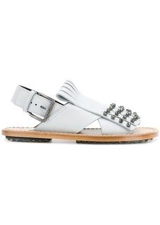 Marni studded fringed sandals