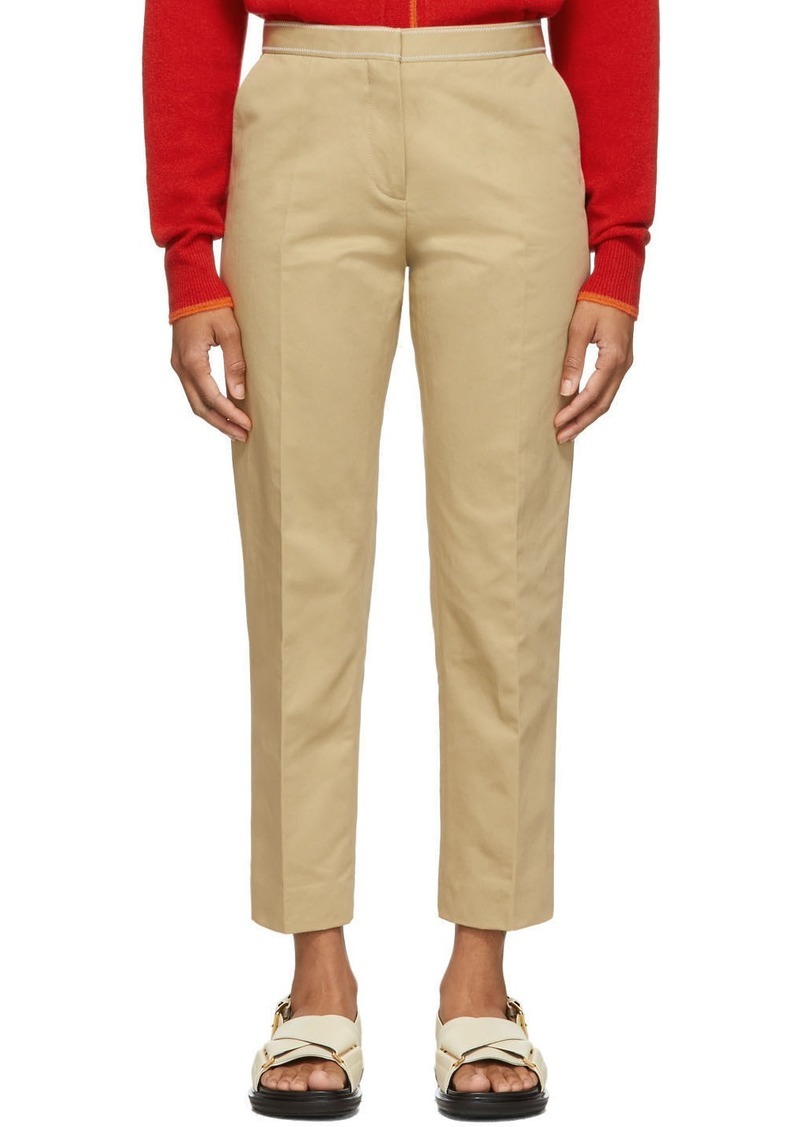Marni Tan Crop Trousers