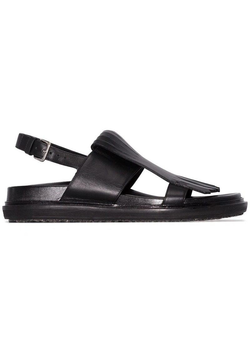 Marni fringed Fussbett sandals