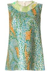 Marni textured patchwork sleeveless top