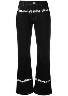 Marni tie-dye detail cropped denim jeans