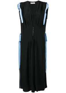 Marni tie shoulder midi dress