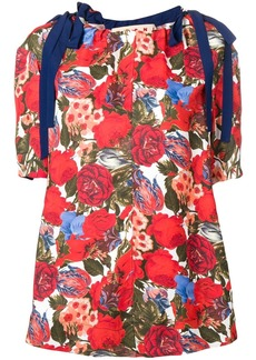 Marni tied sleeve floral top