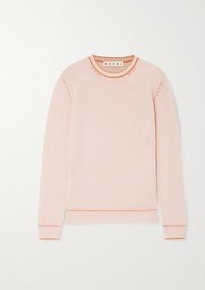 Marni Topstitched Cashmere Sweater