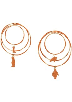 Marni toy charm hoop earrings