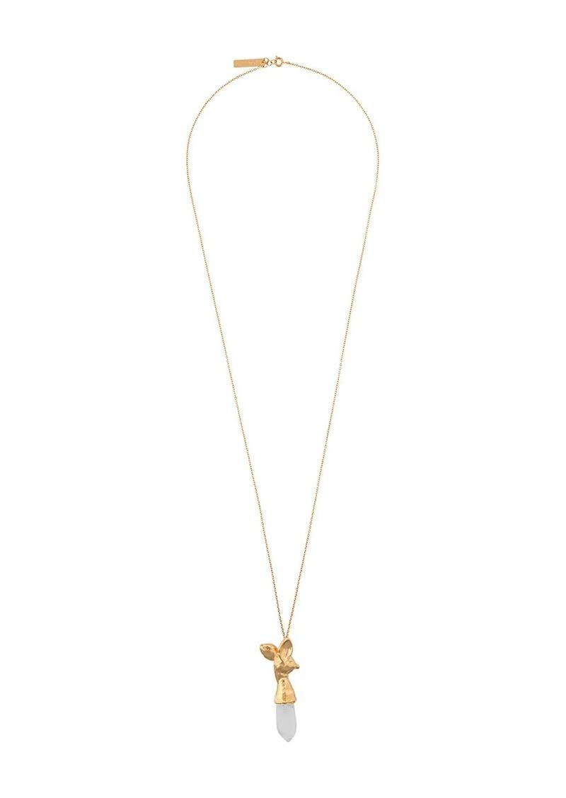 Marni transparent stone necklace