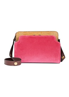 Marni Trunk Reverse Velvet Crossbody Bag