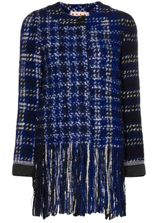 Marni tweed fringed jacket