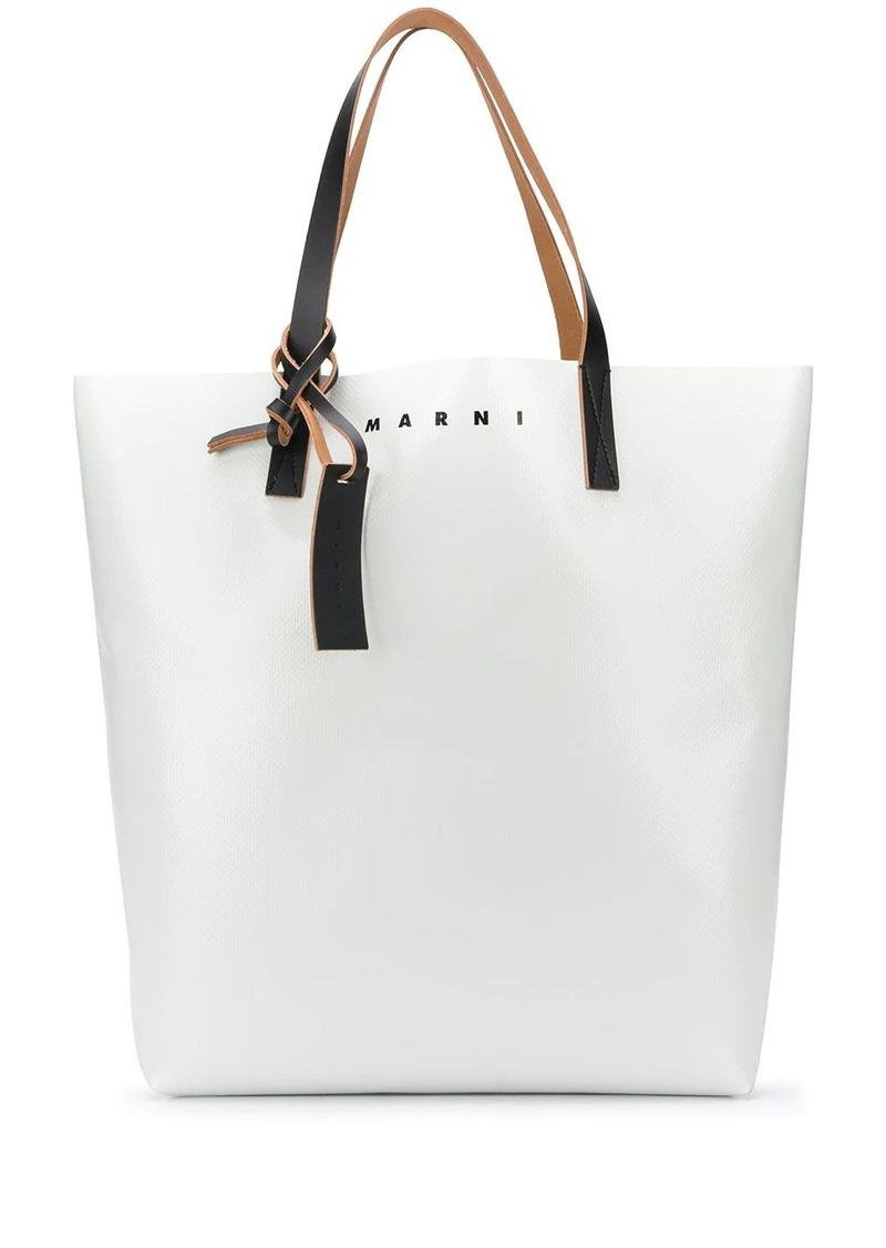 Marni two-tone coated shopping bag