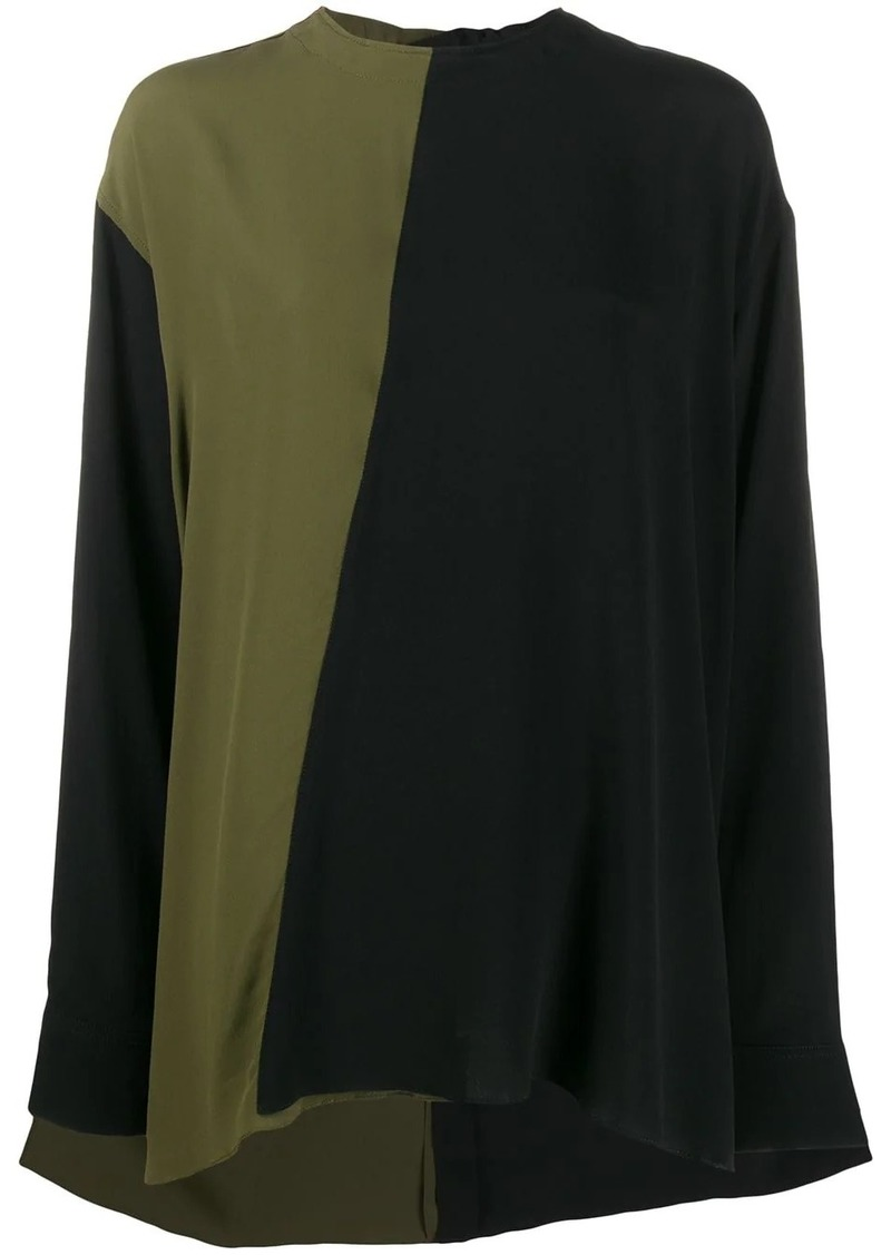 Marni two tone relaxed blouse