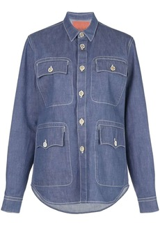 Marni utility pocket denim shirt