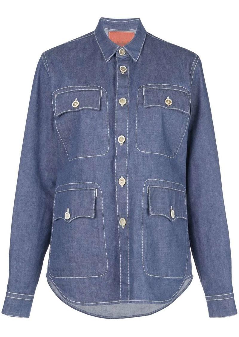 Marni utility pocket denim shirt