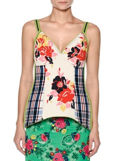 Marni V-Neck Floral-Print Top