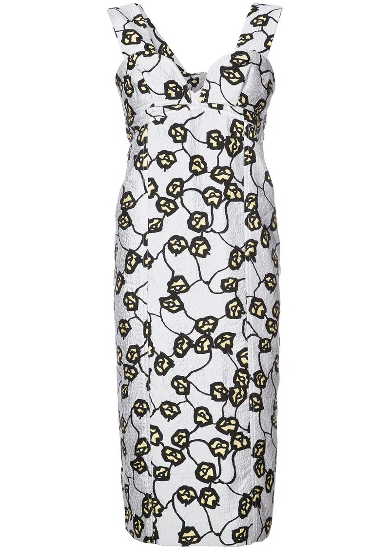 Marni v-neck sheath dress