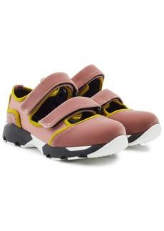 Marni Velcro Strap Sneakers in Velvet and Satin