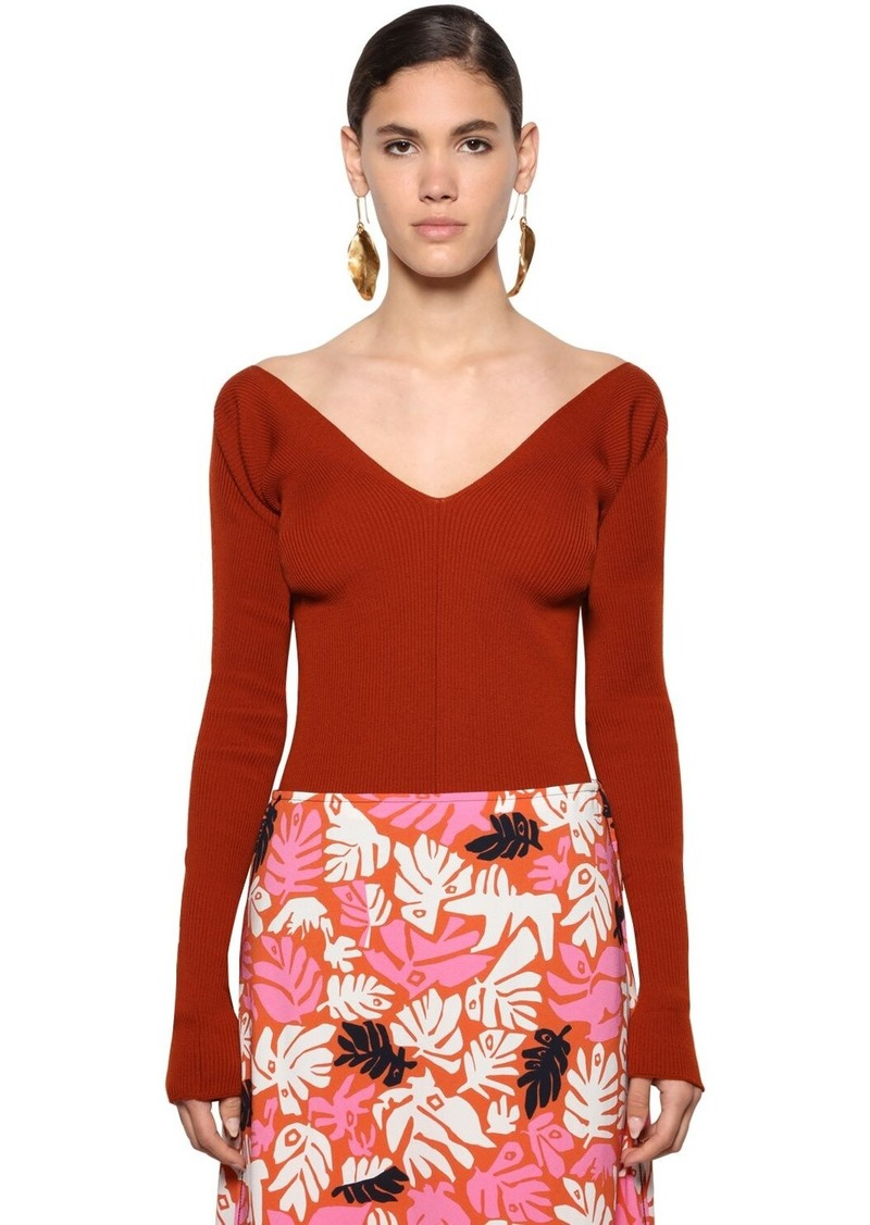 Marni Virgin Wool Rib Knit Sweater