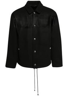 Marni Waxed Stripe Wool Blend Felt Jacket