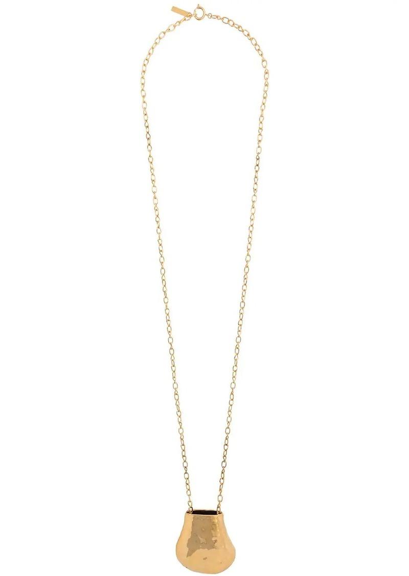 Marni wide chain face necklace