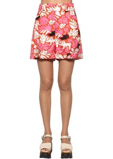 Marni Woven High Waist Printed Shorts