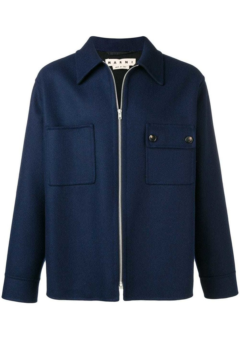 Marni zip up shirt jacket
