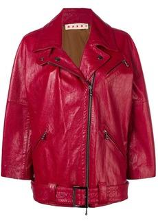 Marni zipped biker jacket