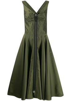 Marni zipped flared midi dress