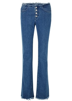 Marques' Almeida 7 For All Mankind Frayed Mid-rise Bootcut Jeans