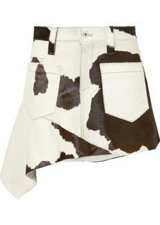 Marques' Almeida Asymmetric Calf Hair Mini Skirt
