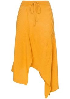 Marques' Almeida ribbed merino wool midi skirt
