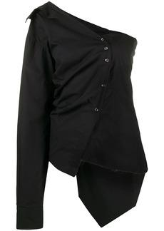 Marques' Almeida asymmetric poplin shirt