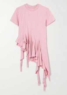 Marques' Almeida Asymmetric Ruffled Cotton-jersey T-shirt