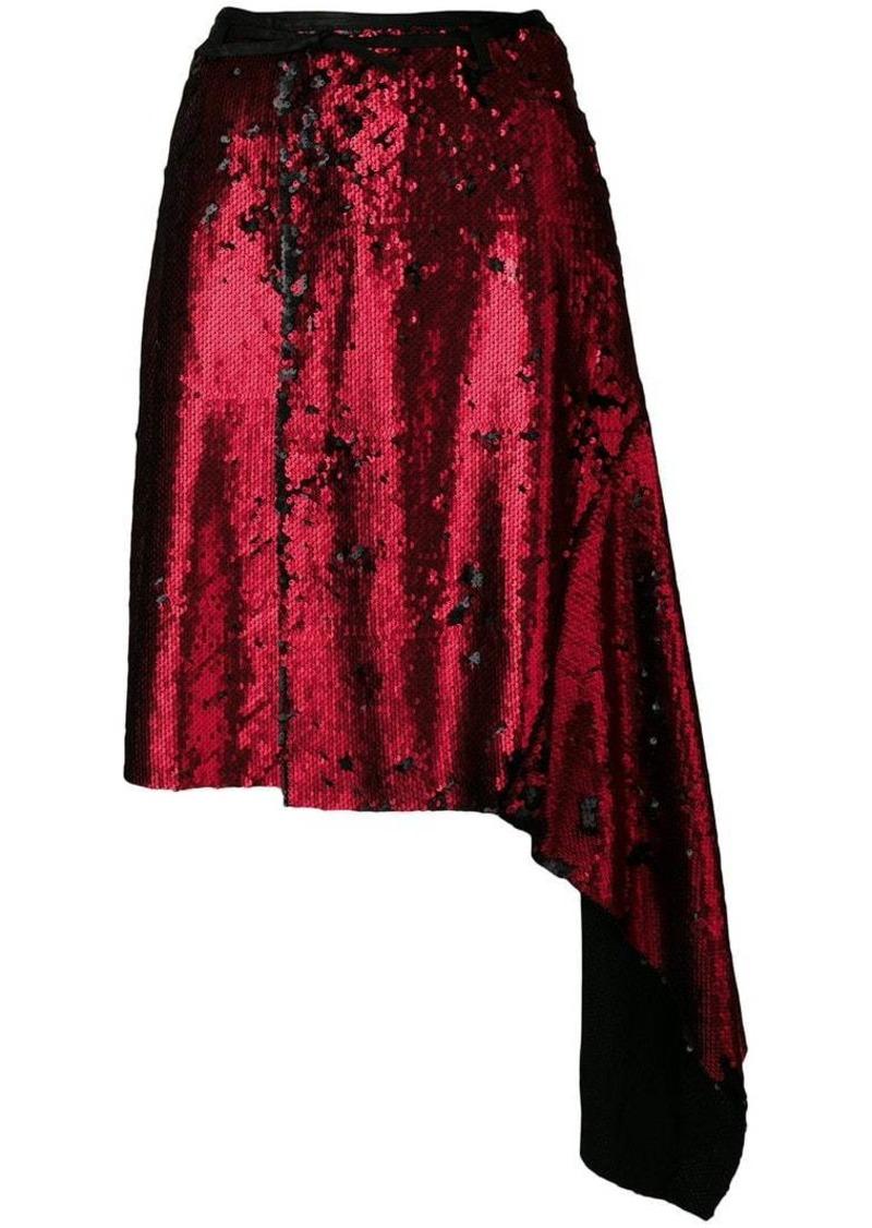 Marques' Almeida asymmetric sequinned skirt